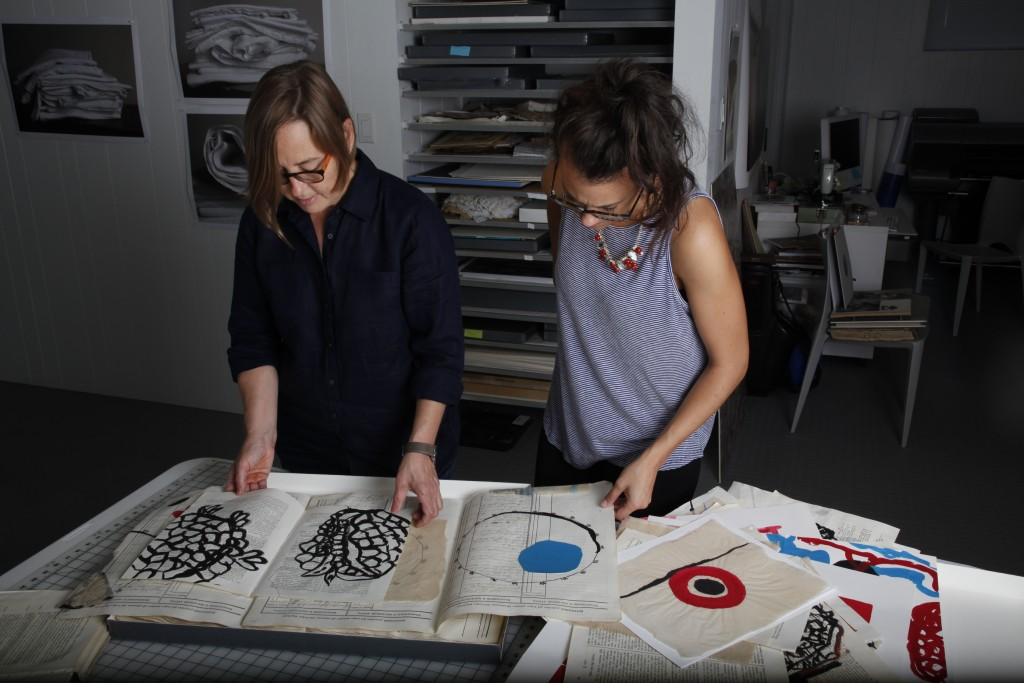 Susan Harbage Page and Kimberley Henze in Susan's Studio, September 2015