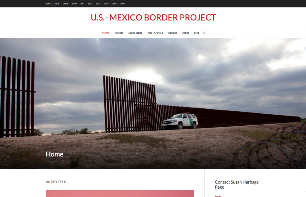 U.S.-Mexico Border Project Site, In Progress Homepage